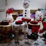 Oameni de zăpadă din șosete