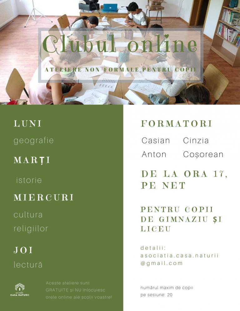 Acces gratuit la Clubul online pentru copii