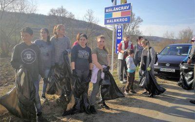 Mălâncrav, martie 2019: Curățenia de primăvară în sat