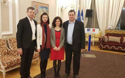 București, ianuarie 2020: recepție dedicată societății civile la Ambasada Franței